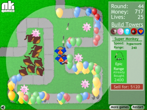 Game Image - Bloons Tower Defense 1
